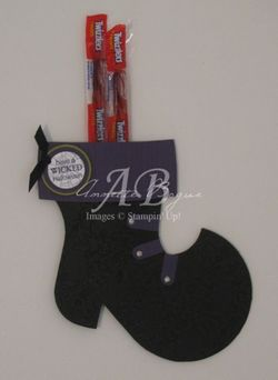 Witch Boot from stocking die