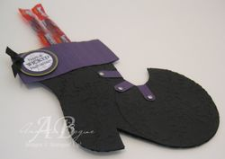 Witch Boot from stocking die angled
