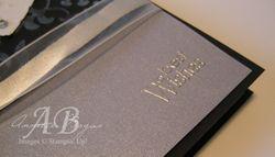 Wedding Card silver embossing