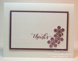 Petite Petals Thanks full card