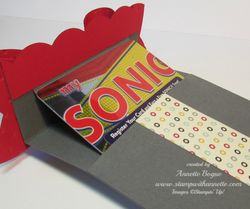 Gift Card Holder Open