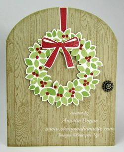 Wondrous Wreath Christmas arched door