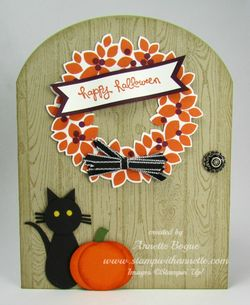 Wondrous Wreath Halloween arched door