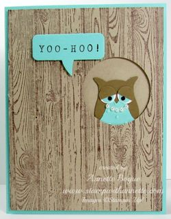 Ms Barbaras Owl card