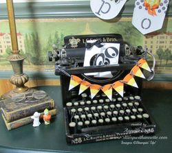 Typewriter with Candy Banner