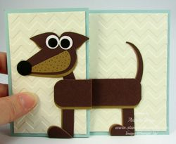 Dachshund punch art card